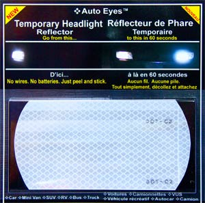 Auto Eyes Temporary Headlight